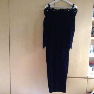 長身裙 黑絨晚裝