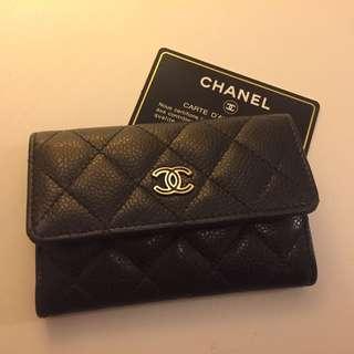 Chanel 香奈兒 琺瑯雙C 經典零錢包 魚子醬 正品 小香