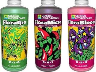 General Hydroponics Flora Series Set