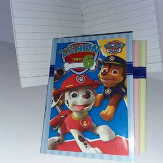 Customised Paw Patrol mini notebook