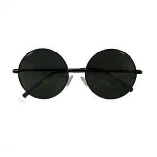 Kacamata Hitam Kacamata Bulat Sun Glasses Pria Wanita Free Ongkir