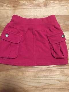 日本品牌 FO kids 桃紅色裙子