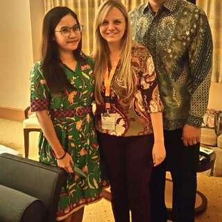 Dress batik green