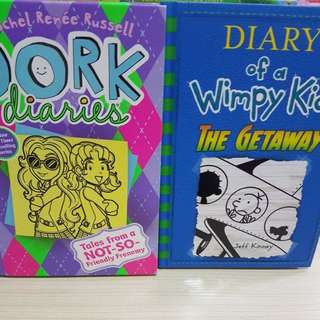 Dork Diaries and Dairy wimpy kid