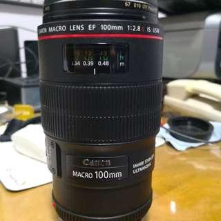 Canon 100mm usm HIS L macro lens