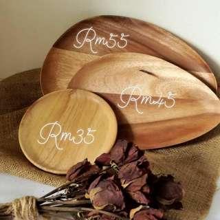Wooden handmade plates/trays
