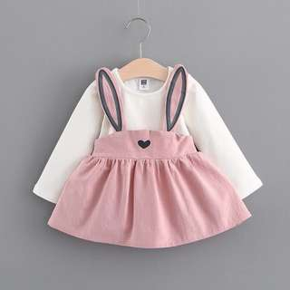 Cute Rabbit Baby Girl Dress
