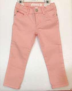 Carter's女童薄牛仔長褲3T 九成新