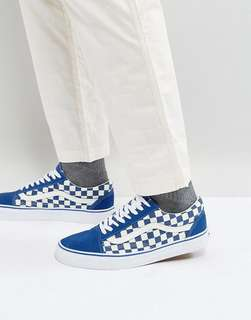 Old Skool Checkered blue Classic