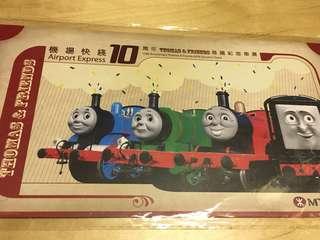 Thomas 地鐵紀念車票 MTR 車票