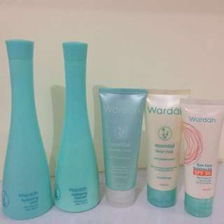 (Take It All) WARDAH Cleanser, Toner, Peeling, Mask and Sun Care