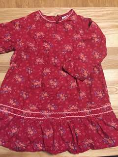 麗嬰房 鄕村花卉風 連身洋裝 裙子