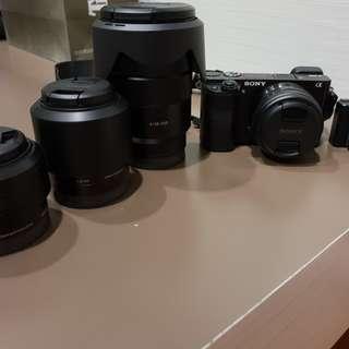 Sony A6000 + 3 lenses bundle