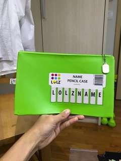 Customisable Green Pencil Case