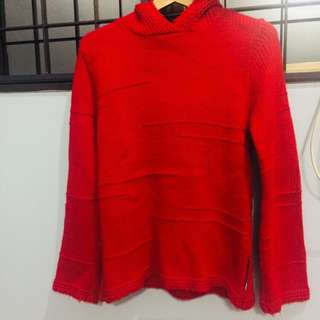 Sweater Jacket In HOT Red Fashion Winter