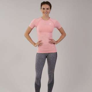 Gymshark Vital Seemless T-Shirt in Peach Pink Marl