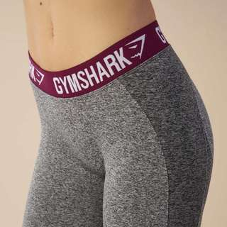 Gymshark Flex Leggings in Charcoal/Deep Plum