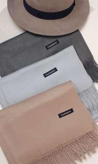 三色cashmere圍巾