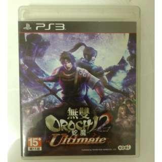中文版 無雙 OROCHI 蛇魔2 Ultimate PS3 附特典杯墊