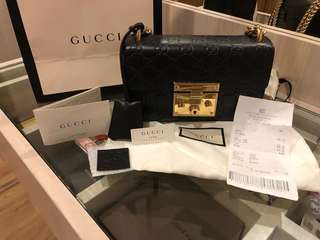 Gucci padlock black leather small