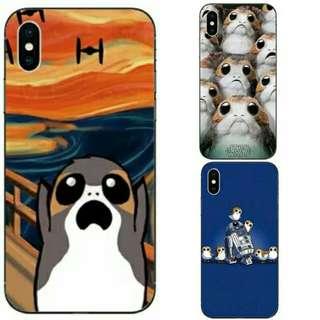 $168 手機 硬 軟殼 iphone samsung 小米 case 電話殻 porg  star wars 星球大戰