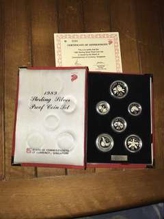 1989 Silver Proof Coin Set
