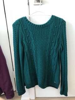 Hollister Green Knit Sweater