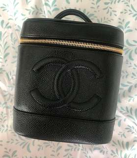 Preloved Chanel CC Logo Caviar Skin Vanity Case