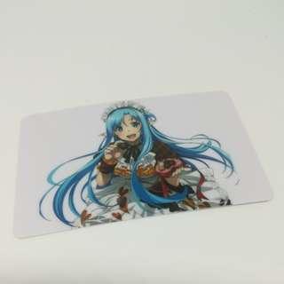Maid asuna card sticker