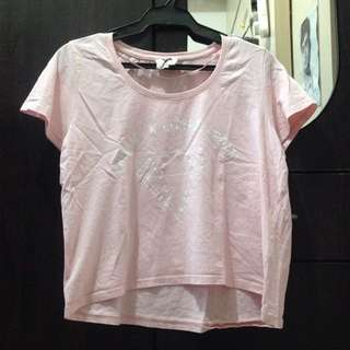 Cotton On Baby Pink Croptop