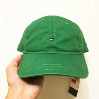 Tommy 經典刺繡logo老帽 亮綠色 全新
