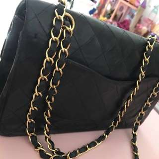 Authentic Chanel Classic bag medium size flap bag