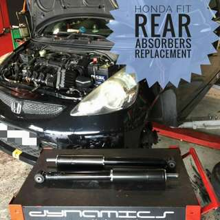 Honda Fit : Rear Absorbers Replacement