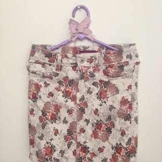 Ako mini skirt flower