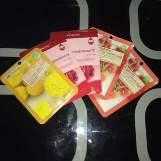 5 pcs. Assorted Korean Face Masks