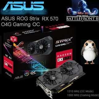 ASUS RX 570 ROG Strix Radeon O4G Gaming OC Edition GDDR5.