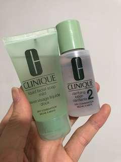 Clinique travel set (cleanser+toner) 30ml