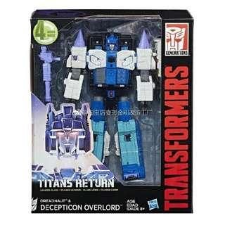 2 For Price Of 1 BNIB Titans Return Overlord & BIBPower Of The Primes Potp Optimus Prime