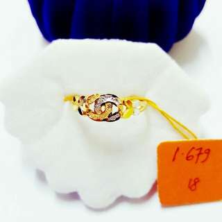 916 Gold Adult Ring instock