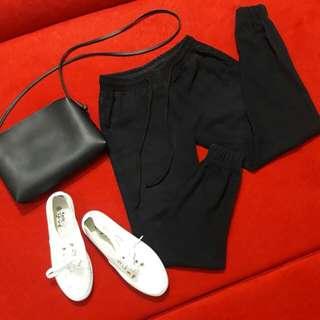 Classic black Denim jogger pants