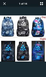 Naruto Anime Backpack — Glow In The Dark — Sharingan Eyes