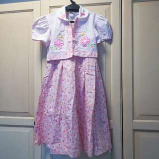 Floral Pink Dress for Girls
