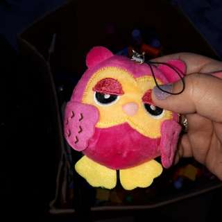 Owl stufded toy small wd butas in back