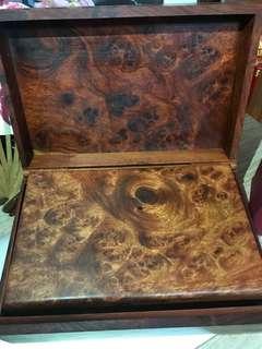 緬甸櫻桃花梨木盒3件套盒