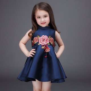 GIRL DRESS EMBROIDERED PRINCESS DRESS