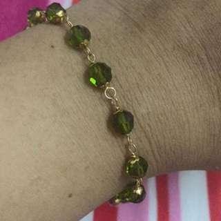 rantai tangan gelang kristal emas 916