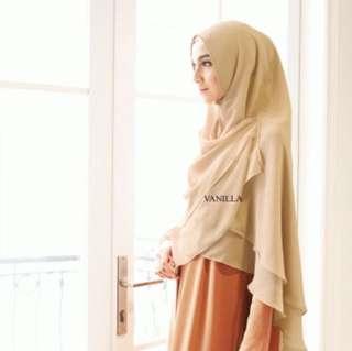 Basic Khimar Vanilla Hijab