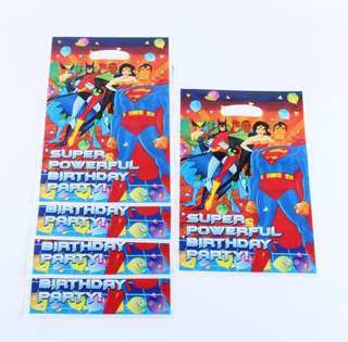💥 Superheroes Justice League party supplies - party Bags / goodie bags / loot bags/ piñata bags