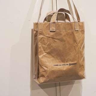Comme Des Garçons CDG Shirt Paper PVC Tote Bag