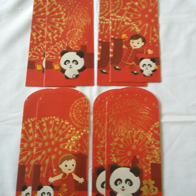 8 pcs *BOC/Bank of China* 2013 Red Packet / Ang Pow / Ang Bao / Ang Pao